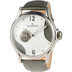 MANNINA(マンニーナ) 腕時計 MNN004-02 メンズ 正規輸入品 グレー - 拡大画像