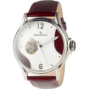 MANNINA(マンニーナ) 腕時計 MNN004-03 メンズ 正規輸入品 レッド - 拡大画像
