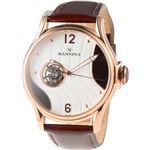MANNINA(マンニーナ) 腕時計 MNN004-04 メンズ 正規輸入品 ブラウン(文字盤:ホワイト×ダークブラウン)