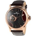 MANNINA(マンニーナ) 腕時計 MNN004-05 メンズ 正規輸入品 ブラウン(文字盤:ブラック×ブラウン)