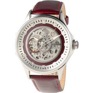 MANNINA(マンニーナ) 腕時計 MNN005-03 メンズ 正規輸入品 レッド - 拡大画像