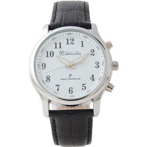 Valentino Rudy(ヴァレンティノ ルディー) 腕時計 VR-575 ブラック(文字盤:ホワイト) - 拡大画像