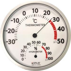 GRUS(グルス) 壁掛け 大型温湿度計 - 拡大画像