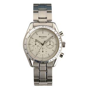 [ブラフマン] 腕時計 日本製ムーブメント フェイククロノグラフ 3針 BR001-02 【文字盤:シルバー】 - 拡大画像