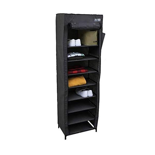 SLOWER DUSTPROOF SHOERACK 収納 くつ箱 Cooper ポリエステル SLW236 ブラック