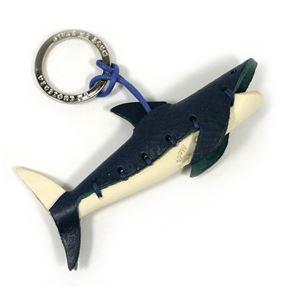 LA CUOIERIA(ラ・クオイエリア) ハンドメイド 本革 キーホルダー サメ - 拡大画像