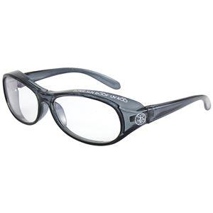 子ども用 PCメガネ ブルーライトカット 紫外線 飛沫対策 形状 KPC-80-2 【クリアグレー】 - 拡大画像