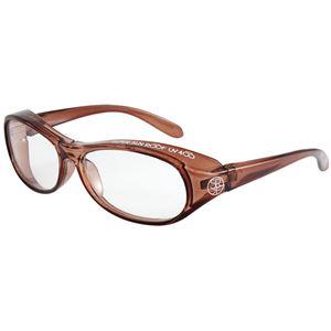 子ども用 PCメガネ ブルーライトカット 紫外線 飛沫対策 形状 KPC-80-3 【クリアブラウン】 - 拡大画像