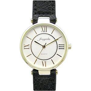 fragola(フラゴーラ) 腕時計 3針 【バンドカラー:ブラック/文字盤カラー:シルバー】 レディース E03915S-1 BK - 拡大画像