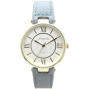 fragola(フラゴーラ) 腕時計 3針 【バンドカラー:ブルー/文字盤カラー:シルバー】 レディース E03915S-1 BL - 拡大画像