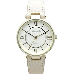 fragola(フラゴーラ) 腕時計 3針 【バンドカラー:ベージュ/文字盤カラー:シルバー】 レディース E03915S-1 IV - 拡大画像