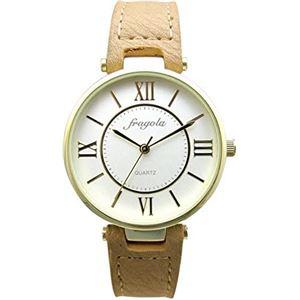 fragola(フラゴーラ) 腕時計 3針 【バンドカラー:ブラウン/文字盤カラー:シルバー】 レディース E03915S-1 BR - 拡大画像