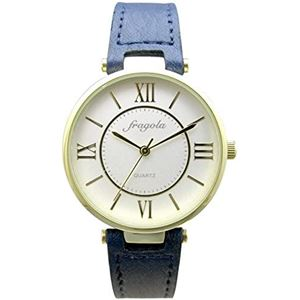 fragola(フラゴーラ) 腕時計 3針 【バンドカラー:ネイビー/文字盤カラー:シルバー】 レディース E03915S-1 NV - 拡大画像