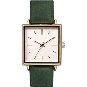 pursuit(ピュアスーツ) 腕時計 3針 【バンドカラー:グリーン/文字盤カラー:シルバー】 レディース E05516A-1 MGN - 拡大画像
