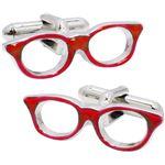 SWANK(スワンク) 日本製 眼鏡のカフス 赤