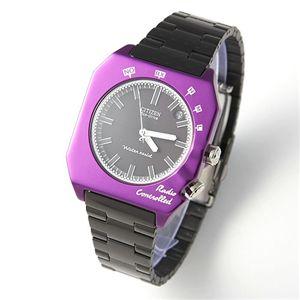 CITIZEN(シチズン) 腕時計 オルタナ メンズブレスウォッチ パープル×ブラック - 拡大画像