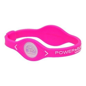 POWER BALANCE(パワーバランス) シリコンブレスレット ピンク Sサイズ - 拡大画像