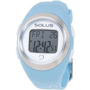 SOLUS(ソーラス) 800  心拍時計 ライトブルー(バタフライ) 【ランニングウォッチ】 - 拡大画像