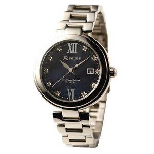 Forever(フォーエバー)  腕時計 デイト付き FG-1201-5 ブラックシェル×ブラック