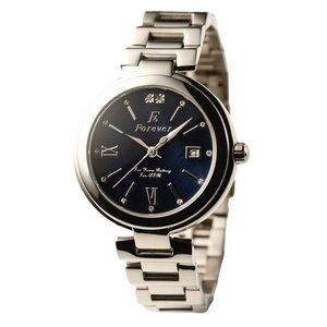 Forever(フォーエバー)  腕時計 デイト付き  FG-1201-10 ブラックシェル×ブラック - 拡大画像