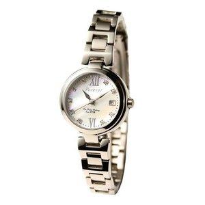 Forever(フォーエバー)  腕時計 デイト付き FL-1201-1 ホワイトシェル×シルバー - 拡大画像