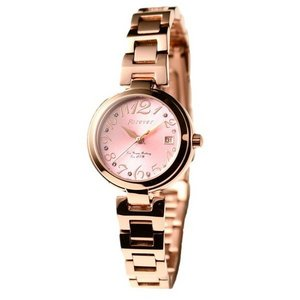 Forever(フォーエバー)  腕時計 デイト付き FL-1201-7 ピンク - 拡大画像