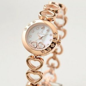 Forever(フォーエバー)  腕時計 1Pダイヤ FL-1207-1PG ホワイトシェル×ピンクゴールド - 拡大画像