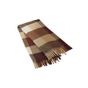 広電 電気ひざ掛け毛布/電気毛布 【ブラウン】 140cm×82cm 長方形 洗える本体 - 拡大画像