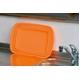 たたんでコンパクト収納!やさしいシリコン製「脚付きシリコン洗い桶」 オレンジ - 縮小画像5