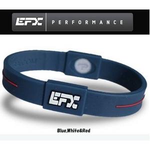 EFX(イーエフエックス) パフォーマンス リストバンド スポーツブレスレット ブルー×ホワイト×レッド[正規品]4001567b-240 Lサイズ - 拡大画像