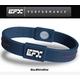 EFX(イーエフエックス) パフォーマンス リストバンド スポーツブレスレット ブルー×ホワイト×レッド[正規品]4001567b-240 Lサイズ - 縮小画像1