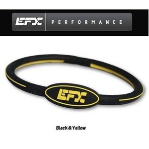 EFX(イーエフエックス) パフォーマンス リストバンド オーバルブレスレット ブラック×イエロー[正規品]4001568-236 Lサイズ - 拡大画像