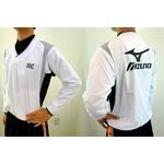 MIZUNO(ミズノ) ジュニア用 Vネックジャケット 52wj-713 ホワイト×ブラック(01) 150サイズ