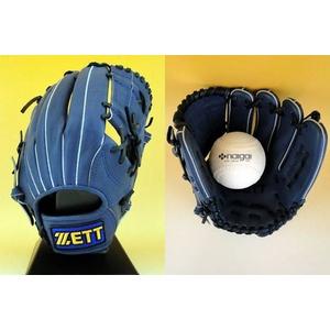 ZETT(ゼット) 一般ソフトボール用グローブ『GRANSTATUS(グランステイタス)』 オールラウンド用 ロイヤルブルー(2500) 右投用 - 拡大画像