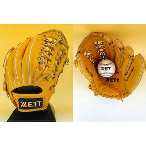 ZETT(ゼット) 『グランステイタス』 少年硬式用グローブ 外野手用 オークブラウン(3600) 右投げ用 - 拡大画像