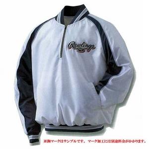 プロも認めるクオリティ♪Rawlings(ローリングス) ベースボール 『長袖Vジャンパー』 BRG275 M ホワイト×ネイビー(0150) - 拡大画像