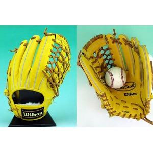 【2010年商品】 Wilson(ウィルソン) 硬式グローブ『Pro STAFF』 外野手用 Lタン 右投用 【WTAHGPW7L】 - 拡大画像