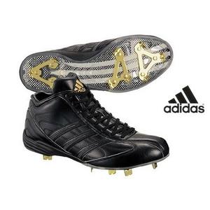 adidas(アディダス) 樹脂底スパイク アディスタート メタル MID ミドルカット ブラック 26cm - 拡大画像