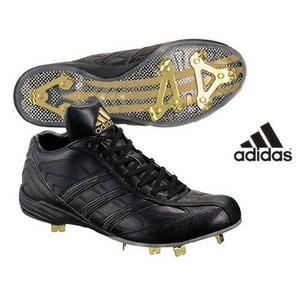 adidas(アディダス) 立ちベロ ミドルカットモデル 樹脂底スパイク メタル フラッグシップ ブラック×ブラック 28cm - 拡大画像