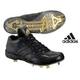 adidas(アディダス) 立ちベロ ミドルカットモデル 樹脂底スパイク メタル フラッグシップ ブラック×ブラック 28cm - 縮小画像1