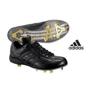 adidas(アディダス) 立ちベロローカットモデル 樹脂底スパイク アディスタート ブラック×ブラック 29.5cm - 拡大画像