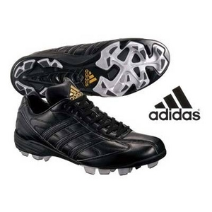 adidas(アディダス) 立ちベロローカットモデル ポイントスパイク アディスタート LOW ブラック 29cm - 拡大画像