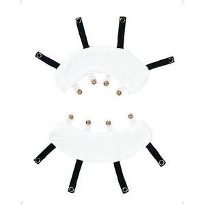 2010年モデル ZETT(ゼット) マスク用汗取り ホワイト(1100) 軟式用(BL408AR) - 拡大画像