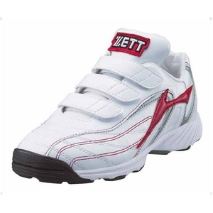 ZETT(ゼット) トレーニングシューズ カラーセレクトJX ホワイト×レッド(1164) 20.0cm - 拡大画像