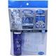 ZAT抗菌デザインマスク + 抗菌スプレー ×3個セット 【大人用 ダブルガーゼ ブルー】 - 縮小画像1