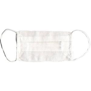 ZAT抗菌デザインマスク + 抗菌スプレー ×6個セット 【大人用 ハート ホワイト】 h02