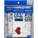 ZAT抗菌デザインマスク + 抗菌コットン×6個セット 【大人用】ハート レッド/白 border=