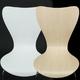 トライアングルチェア/スタッキングチェア 【座面高:47cm】 木製 背もたれ付き ホワイト(白) - 縮小画像4