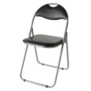 折りたたみパイプ椅子 スチール 背もたれ付き (会議用椅子/ミーティングチェア) IK-0102 - 拡大画像