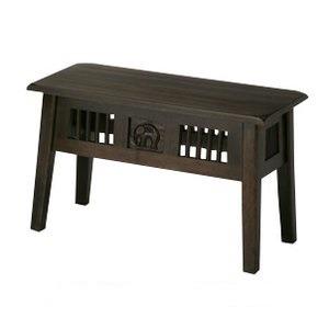 アジアンベンチ 木製 アジアンテイスト (ベンチ/踏み台/飾り棚) bs-7902 - 拡大画像